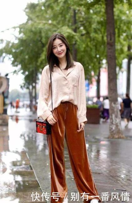 早秋不同款式的衬衫搭配阔腿裤,带给你不同的风格体验