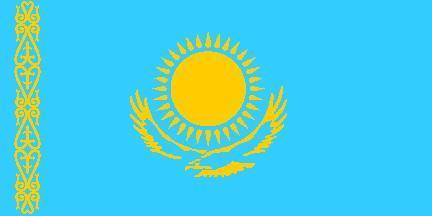 垂直升旗哈萨克斯坦国旗-垂直升旗图片