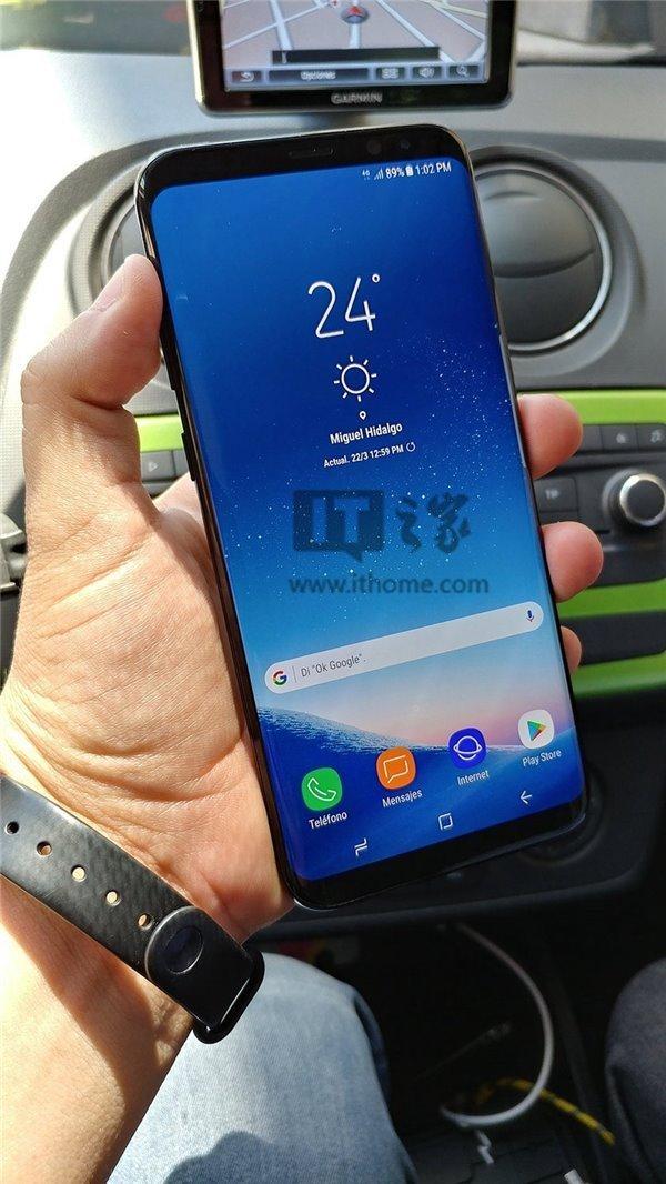 三星S8+(Plus)真机上手曝光:圆角屏幕 亮屏惹眼