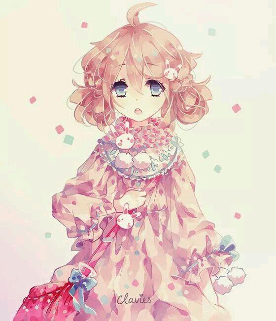 好看的动漫粉色或者蓝色控女生的图片
