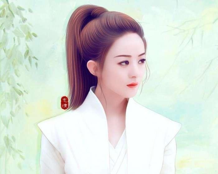 《楚乔传》手绘版赵丽颖美得不像话, 一颗朱砂痣更是画龙点睛.