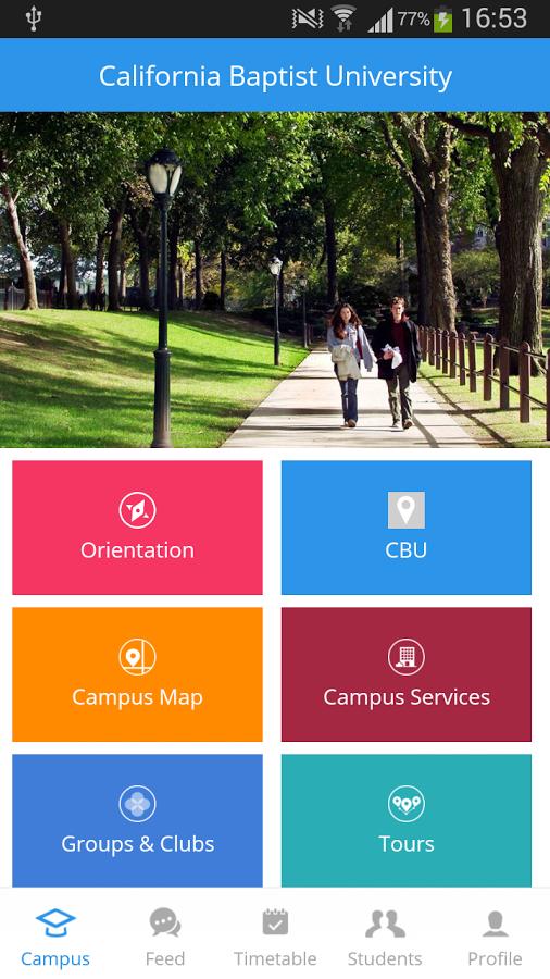 California Baptist University Campus Map.移动应用 California Baptist University